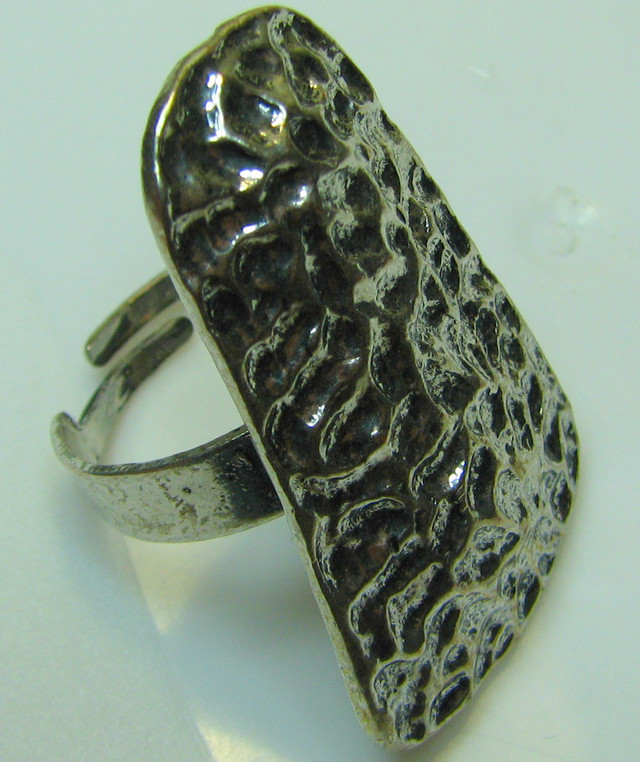 TRIBAL DESIGN  SILVER RING WITH ADJUSTABLE BAND