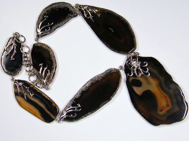 LARGE AGATE NECKLACE IDEAL SHOP DISPLAY  1120 CARATS  AAT 10