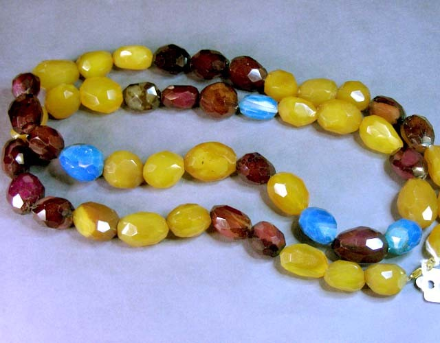 MASSIVE AGATE NECKLACE  BEAD STRAND   11 679