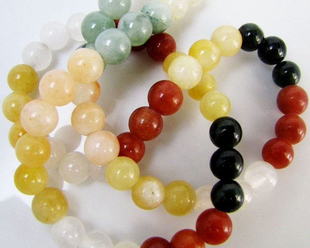 350 Cts mixed  Agate crystal  necklace MJA 1099