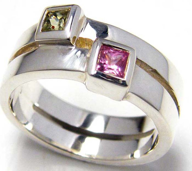 PARTY SAPPHIRES IN STERLING SILVER RING SIZE 9.5  GTJA 62