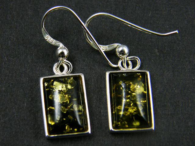 STYLISH MODERN AMBER  SILVER EARRING 16.55 CTS  MYT 759