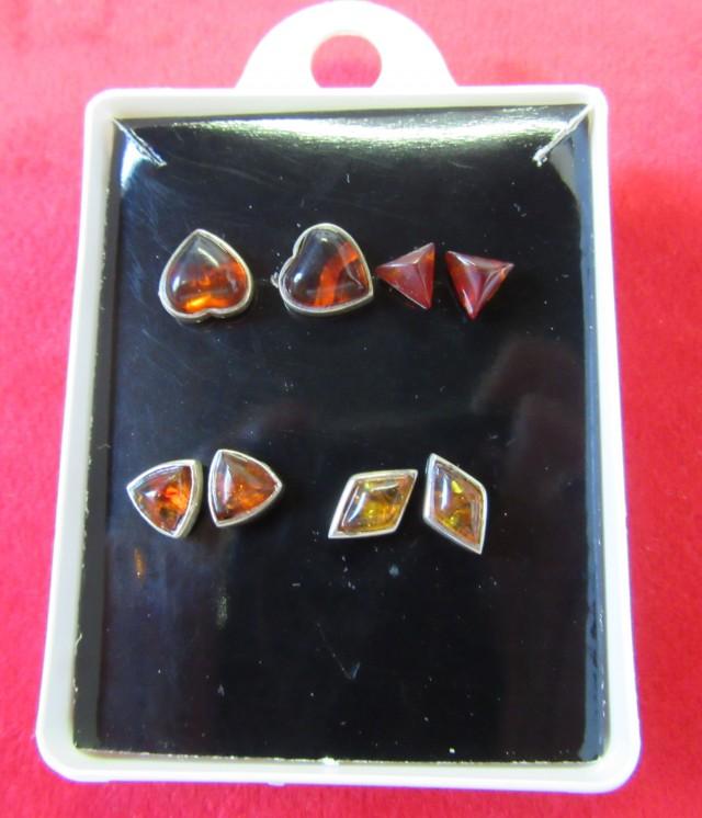 Amber Silver  Earring Parcel Deal 4  AGR691