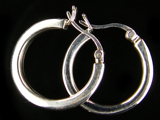 MODERN 20 MM  LOOP STERLING SILVER  EARRING    MYT 478