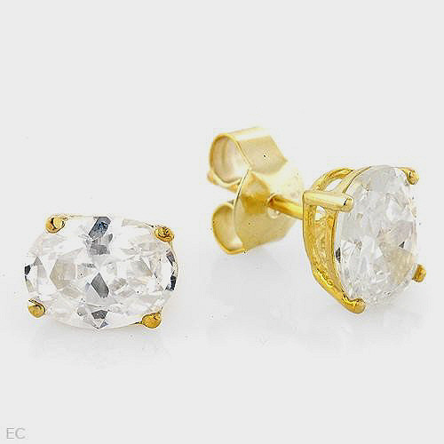 5.25ctw CZ Beautifully Crafted in 14K/925 Gold / Silver