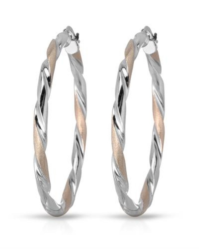 NEW - 925 STERLING SILVER HOOPS