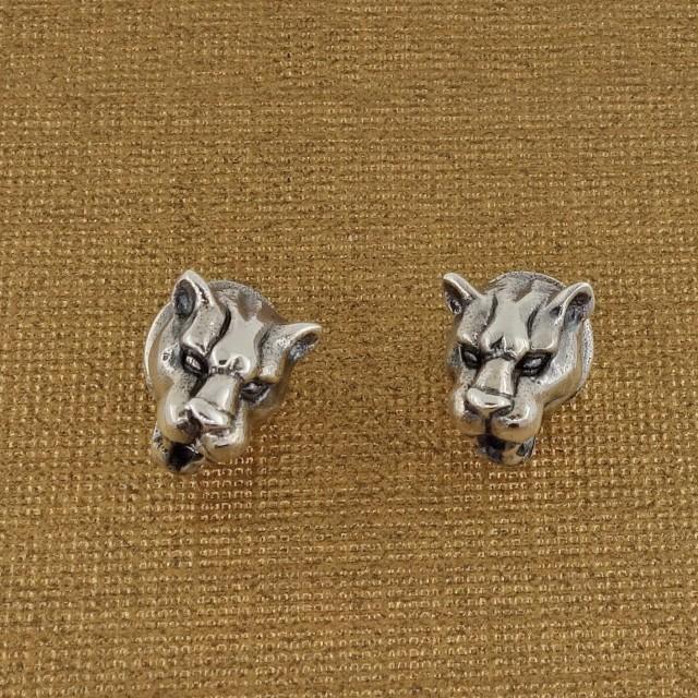 Sterling Silver Tiger Stud Earrings