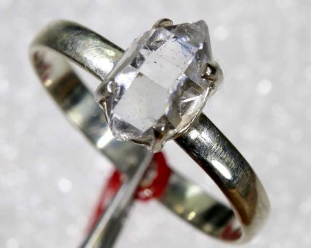 QUARTZ RING LIKE HERKIMER DIAMONDS 7 CTS  TBJ-781