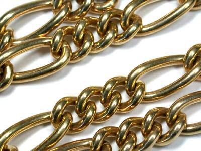 104 grams  HEAVY 9 K GOLD CHAIN, 55 CM LONG 104 GRAMS L324
