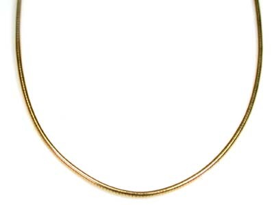 11 grams 18K ITALIAN GOLD WIRE CHAIN , 40 CM LONG 11  GRAMS L396