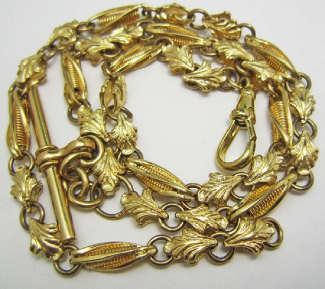 33.5 grams 9k Solid Gold Chain 33.5 GRAMS ANTIQUE STYLE L239