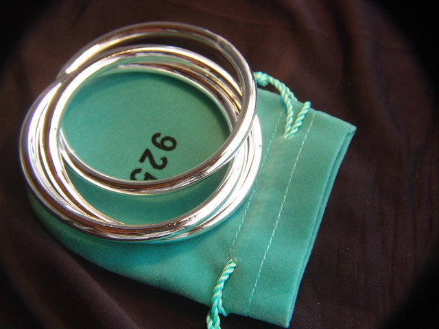 925 Jewelry Grade Sterling Silver 3 Hoop Bracelet
