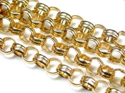 34.2 Grams  9K GOLD GOLD CHAIN, 50 CM LONG  L368