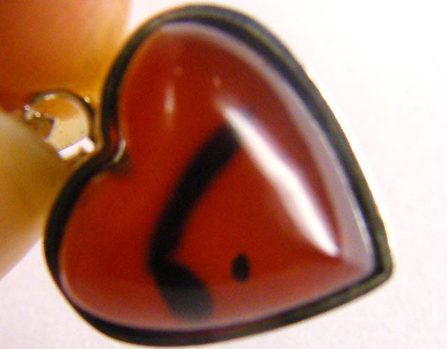 BALTIC HONEY  AMBERHEART SILVER   PENDANT 6 TCW   MYG 987