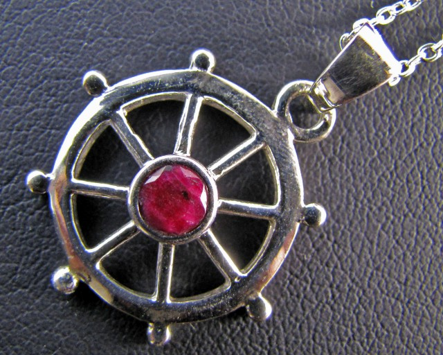 28 Cts Ruby set in Silver Pendant MJA 653