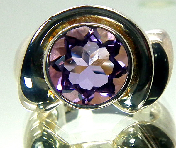 AMETHYST  SILVER RING 37.55  CTS  SIZE-7  RJ-81