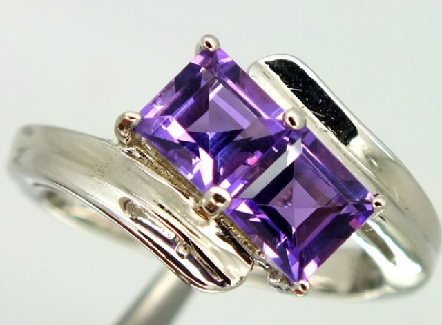 AMETHYST  SILVER RING 21.55  CTS  SIZE-7    RJ-301