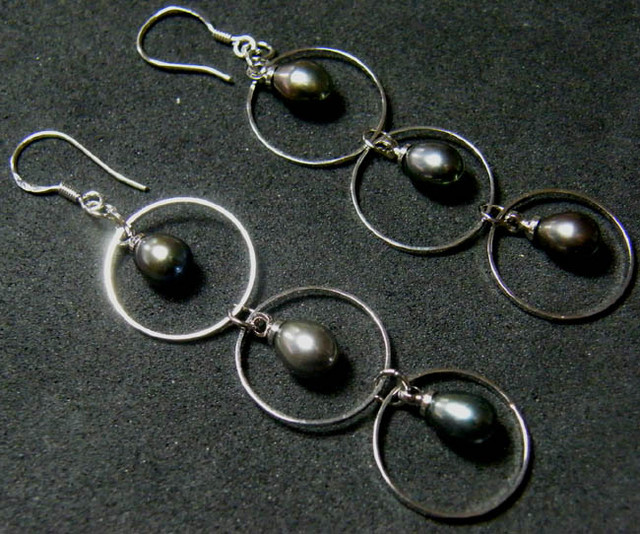 925 SILVER EARRING WITH PEARLS 20 CTS [3E15]