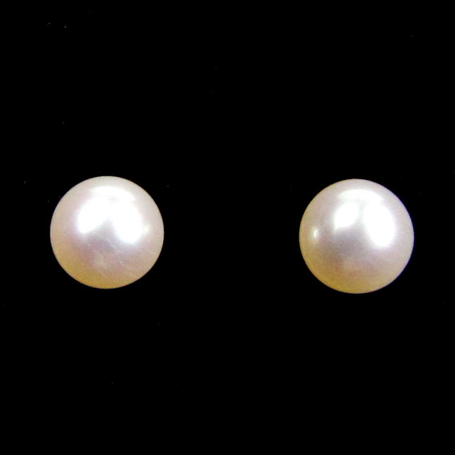 DYNASTY 14 K GOLD 4 MM  PEARL EARRING STUD   JAO 11