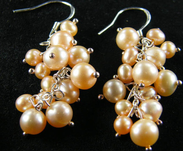 925 SILVER EARRING WITH PEARLS 39.9 CTS [CER03]