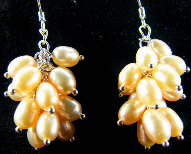 925 SILVER EARRING WITH PEARLS 42.3 CTS [CER07]