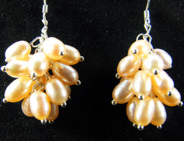 925 SILVER EARRING WITH PEARLS 47.2 CTS [CER09]