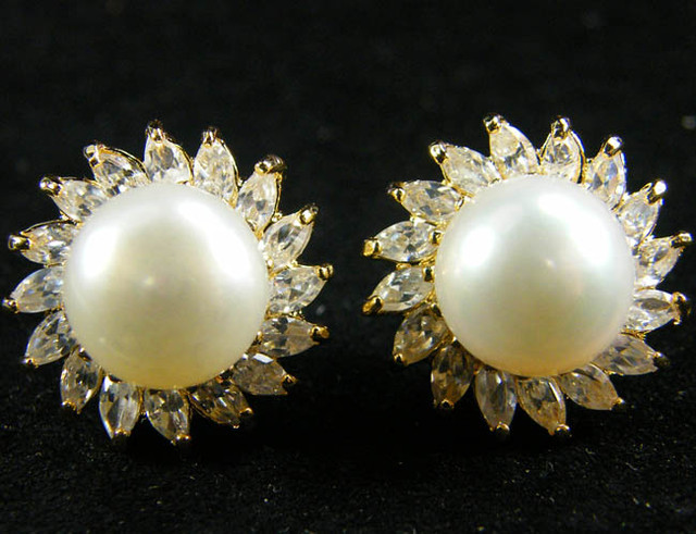 NATURAL PEARL EARRING PAIR 33.8 CTS [EE07]