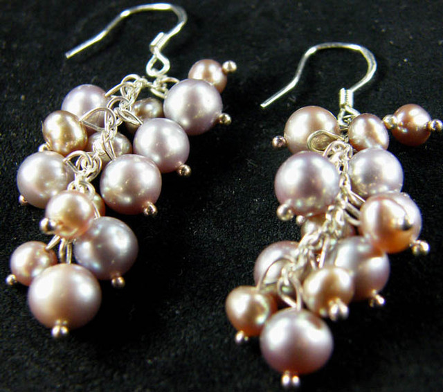 925 SILVER EARRING WITH PEARLS 40.5 CTS [CER05]