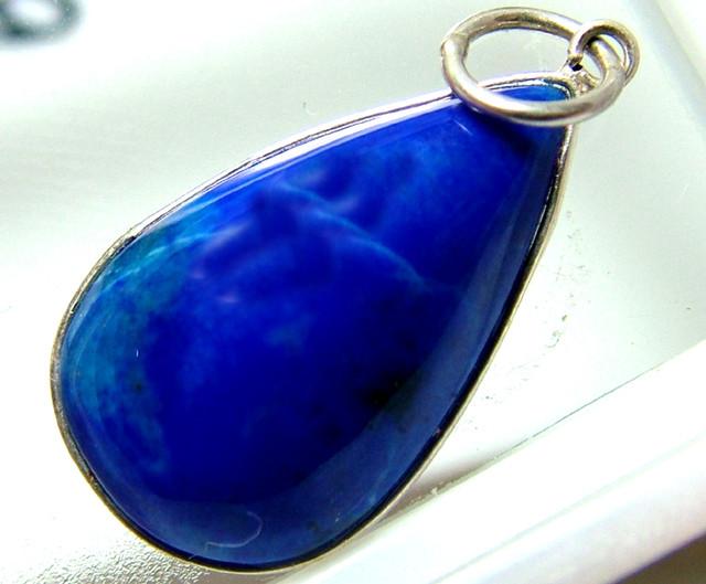 LAPIZ  PENDANT ROYAL BLUE SILVER BALE 10 CTS  AS-A754