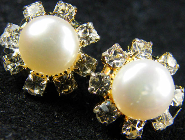 NATURAL PEARL EARRING PAIR 11.3 CTS [EE37 ]