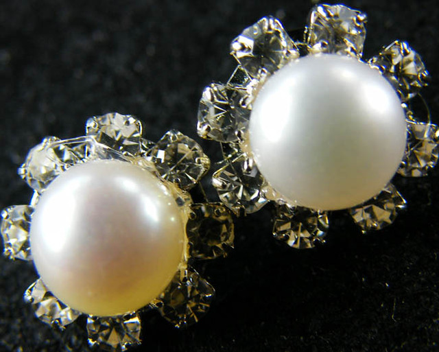 NATURAL PEARL EARRING PAIR 10.8 CTS [EE40]