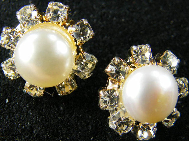 NATURAL PEARL EARRING PAIR 13.3 CTS [EE43]