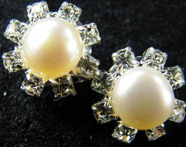 NATURAL PEARL EARRING PAIR 13.1 CTS [EE46]