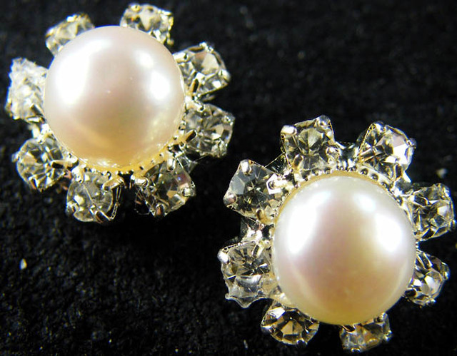 NATURAL PEARL EARRING PAIR 12  CTS [EE48]