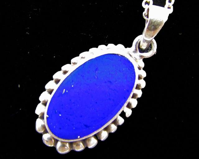 11 Cts   lapis lazuli in silver PendanT   MJA 622