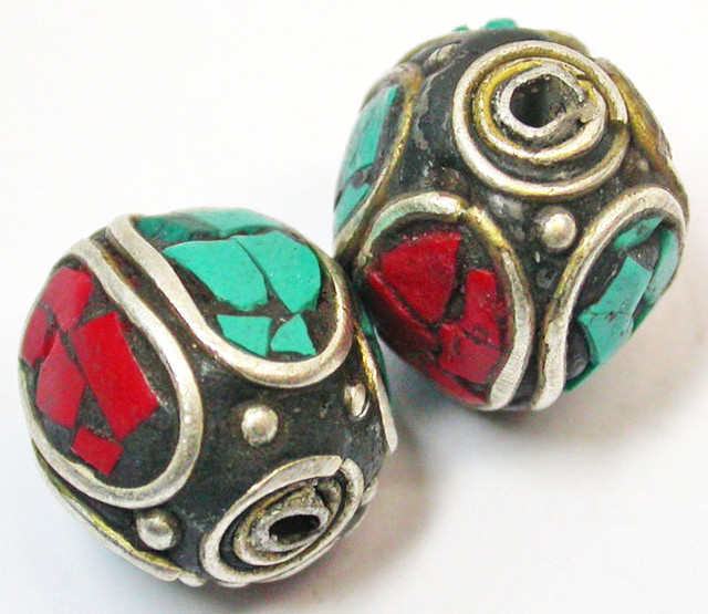 NEPAL BEAD PARCEL-CORAL TURQUOISE 37.95 CTS [SJ1510]