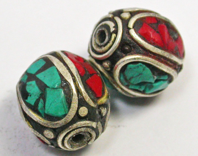 NEPAL BEAD PARCEL-CORAL TURQUOISE 36.35 CTS [SJ1514]