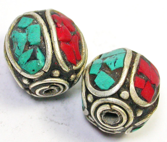 NEPAL BEAD PARCEL-CORAL TURQUOISE 37.60 CTS [SJ1518]