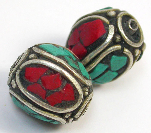 NEPAL BEAD PARCEL-CORAL TURQUOISE 36.60 CTS [SJ1523]