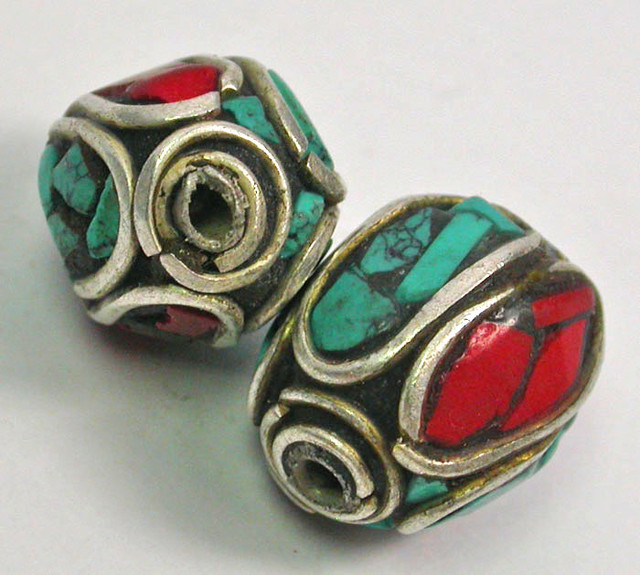 NEPAL BEAD PARCEL-CORAL TURQUOISE 34.40 CTS [SJ1524]