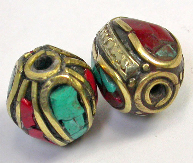 NEPAL BEAD PARCEL-CORAL TURQUOISE 31.60 CTS [SJ1528]
