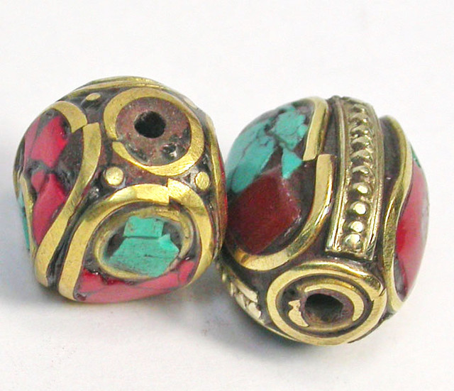 NEPAL BEAD PARCEL-CORAL TURQUOISE 32.30 CTS [SJ1530]
