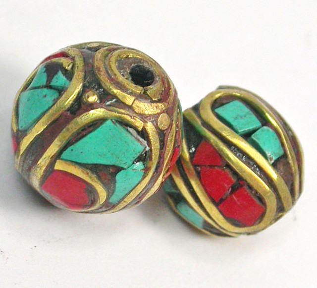 NEPAL BEAD PARCEL-CORAL TURQUOISE 32.30 CTS [SJ1531]
