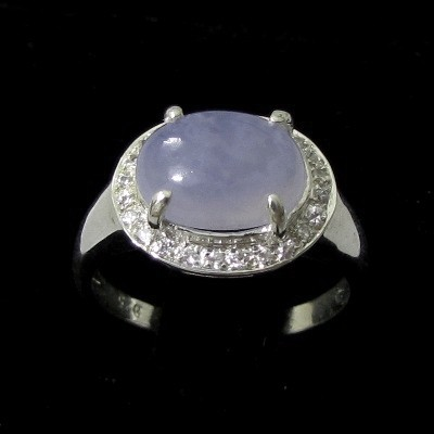 3.26g Cute Lavender CHALCEDONY Ring Sz 7 Silver Jewelry