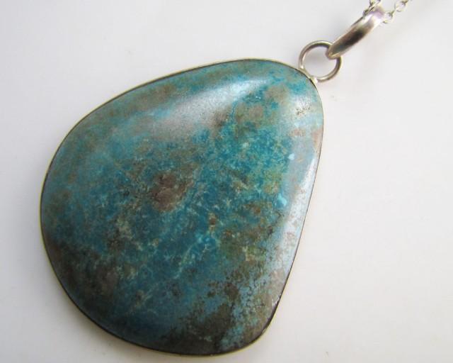 64 CtsTibetan Turquoise  Pendant MJA 1009