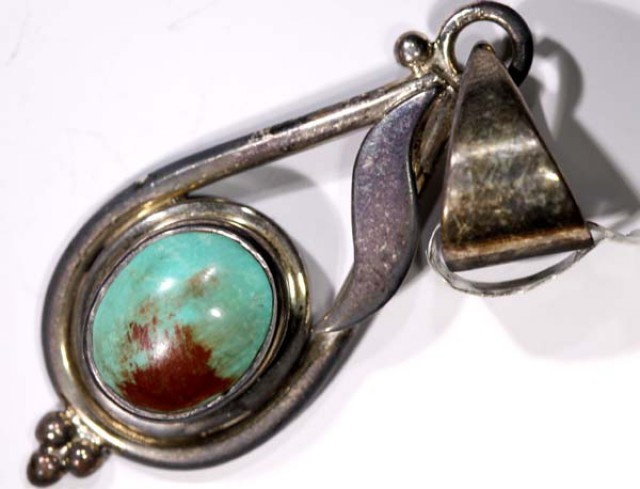 BEAUTIFUL TURQUOISE SILVER PENDANT - 35CTS  TBJ-595