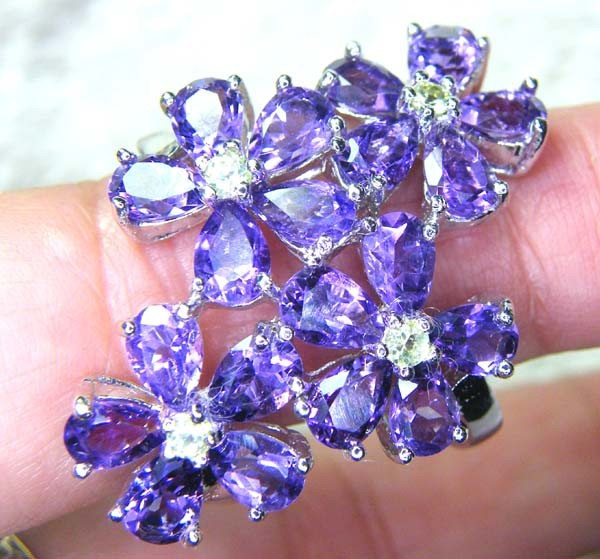 AMETHYST  SILVER RING  52.70 CTS  SIZE-8    RJU-25