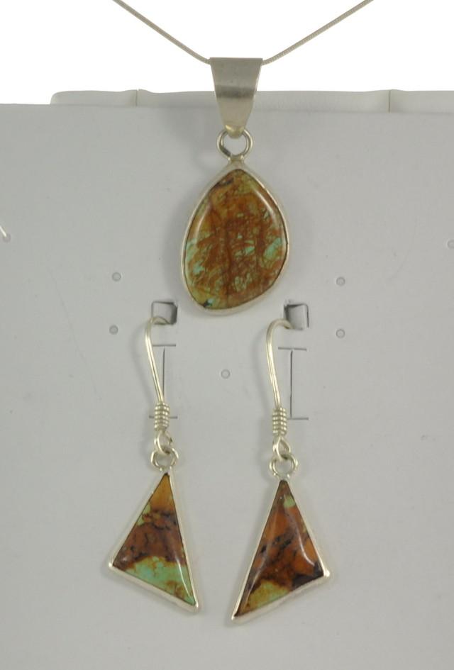 SALE!! Turquoise Earrings w/Pendant - JA-123