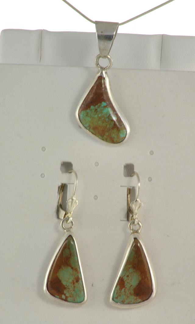SALE!! Turquoise Earrings w/Pendant - JA-125
