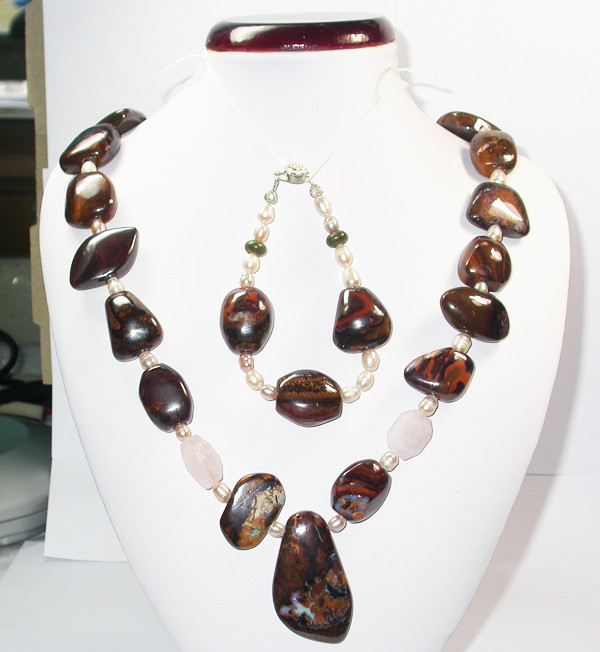 1236.20 CTS CHUNKY BOULDER AND GEMSTONE NECKLACE SJ2011